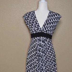 Maggie London Black & White Cap Sleeve Dress Sz 8